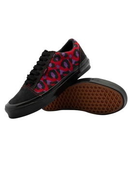 x Stray Rats Red Leopard Print OG Old Skool Sneakers