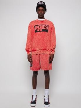 Vault X Aries Crewneck Sweatshirt Red