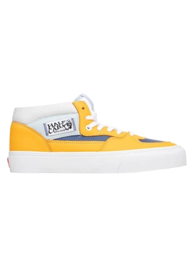 UA Half Cab Mid-Top Sneaker, Saffron and True Navy