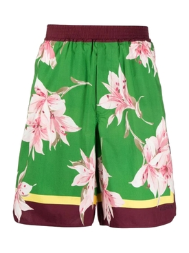 Floral Bermuda Shorts Lilium Verde Green