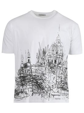 Roman Sketches T-shirt, white