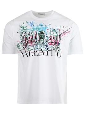 Roman Sketches Crewneck T-shirt, White
