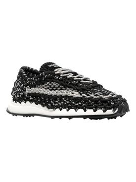 Macramé Crochet Sneakers, Grey