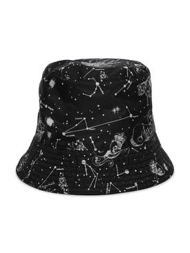 REVERSIBLE COSMOS PRINT BUCKET HAT