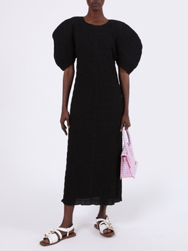 Aranza Pleated Midi Dress Black