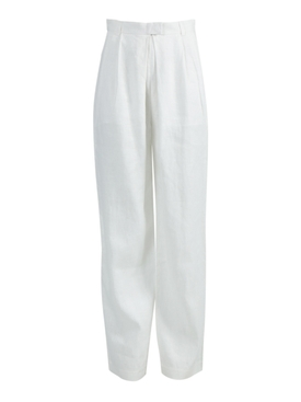 White Eldora Straight Leg Pants