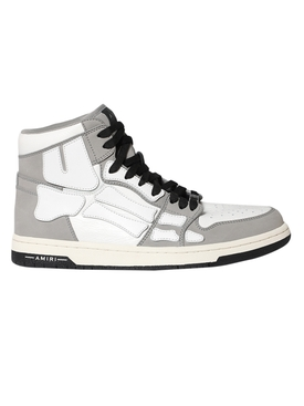 Skeleton High Top Sneakers Grey / White