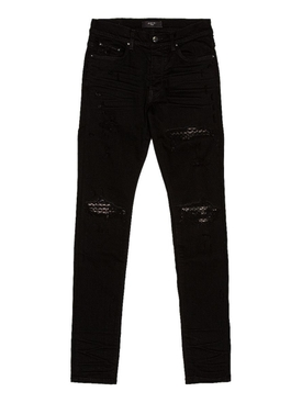 Quilted Leather Animation Jean BLACK