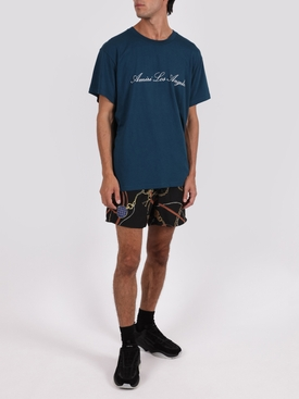 Amiri Los Angeles Tee Petrol Blue
