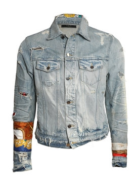 Patch Scarves Trucker Jacket Original Indigo