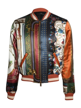 Scarf Patchwork Printed Bomber