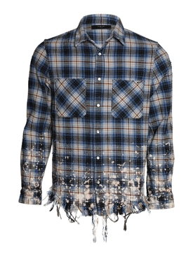 Bleached Flannel Petrol Blue