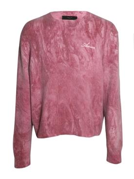 Marble tie-dye knit jumper BURGUNDY