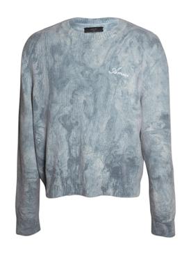 Marble tie-dye knit jumper PETROL BLUE