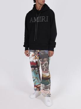 Souvenir patchwork printed jogger pants