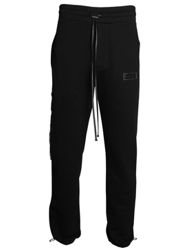Stitch logo sweatpants BLACK