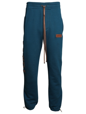 Stitch logo sweatpants PETROL BLUE