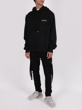 Cotton Cargo Sweatpants Black