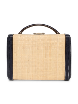 Grace Small Raffia Box Bag
