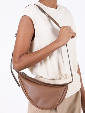 Brown Slouchy Banana Shoulder Bag