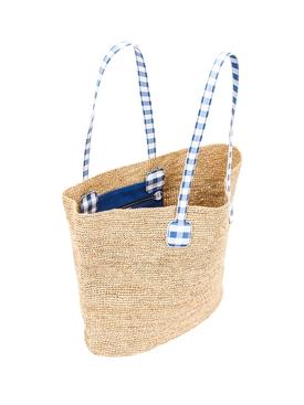Côte d'Azur Raffia Tote Bag