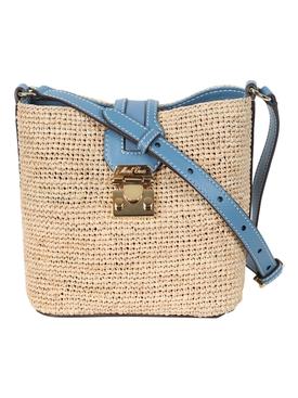 Rattan Mini Murphy Bag COPEN BLUE