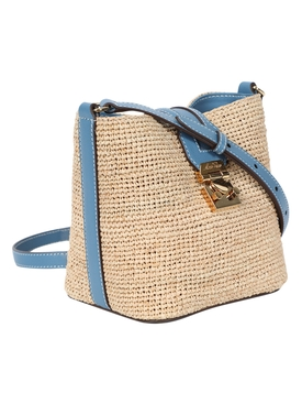 Rattan Mini Murphy Bag COPEN BLUE