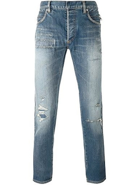 Blue Destroyed Effect Denim Jeans