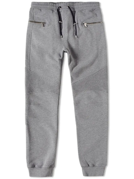 Grey Biker Detail Pants