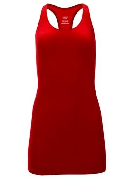 VELVET OPEN BACK MINI DRESS RED