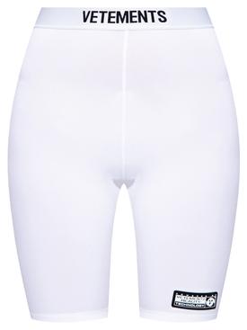 Classic Logo Cycling Shorts White