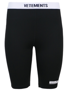 Classic Logo Cycling Shorts Black and White