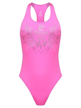 Crystal Logo Swimsuit Hot Pink