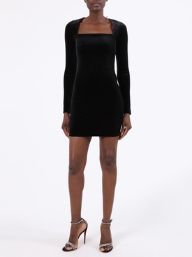 SQUARE NECKLINE MINI DRESS
