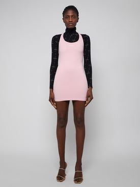 Baby Pink Logo Mini Dress