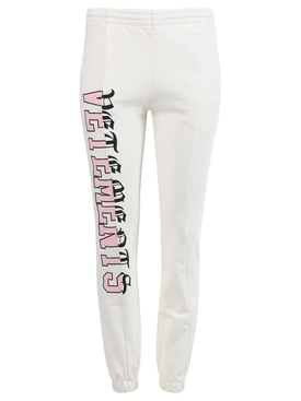 VERTICAL CUT-UP LOGO SWEATPANTS, IVORY
