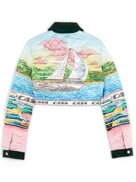 Printed 70'S Denim Jacket Voyage Blue