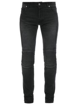 Slim Fit Ribbed B Shiny Jeans Noir Black