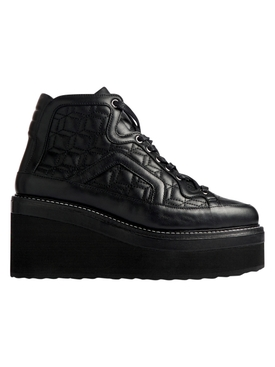 AOYAMA QUILTED LAMBSKIN ANKLE BOOT BLACK