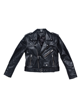 LEATHER JACKET 18, Black