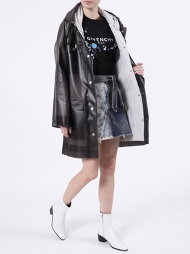 Belted Striped Raincoat