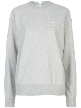 Grey crew-neck logo sweatshirt