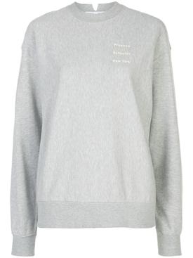Grey crew-neck logo sweatshirt
