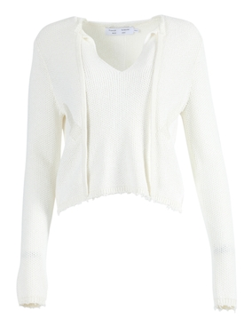 Proenza Schouler White Label - Off-white Frayed Edges Pullover Top - Women