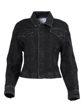 Black Cinched Jean Jacket