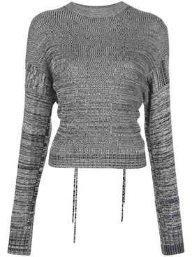 Marl cut-out sweater GREY