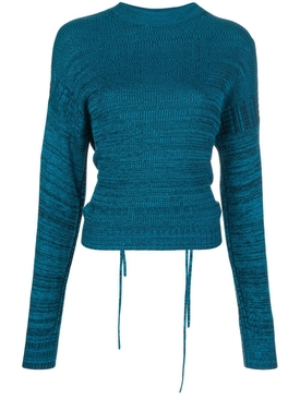 Marl cut-out sweater TEAL