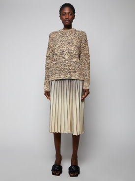 OMBRE PLAID PLEATED SKIRT