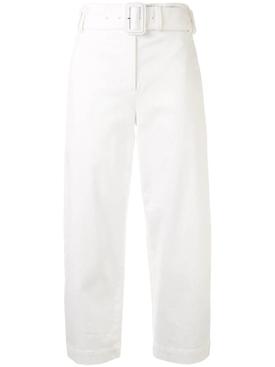 High waisted belted slacks