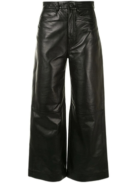BLACK LEATHER CULOTTE
